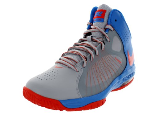 Nike Mens Air Max Actualiser Ii Basketbalschoenen Wlf Spel / Tm Orng / Pht Bl / Mtllc S