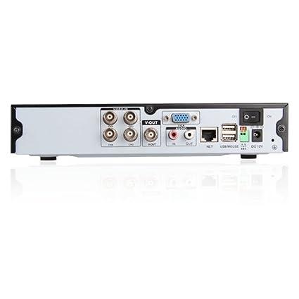 SUNLUXY® Grabador DVR de 4 Canales H.264 para sistema de seguridad CCTV videovigilancia para iPhone, Android, Blackberry, Symbian y Windows mobile No ...