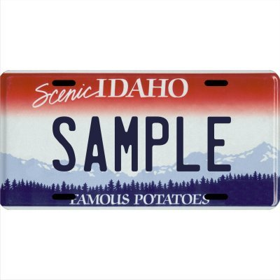 Custom Personalized Metal License Plate Your Name Your State - Choose from All 50 States (Idaho, 6