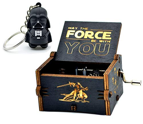 Star Wars Music Box- 18 Note Mechanism Antique Carved Music Box Crafts Toy (Star WarsBlack)
