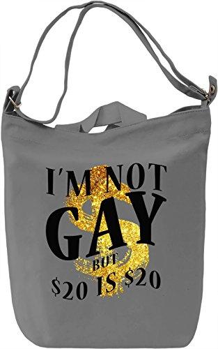 I'm Not Gay Borsa Giornaliera Canvas Canvas Day Bag| 100% Premium Cotton Canvas| DTG Printing|