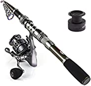 Sougayilang Spinning Fishing Rod and Reel Combos Portable Telescopic Fishing Pole Spinning reels for Travel Sa