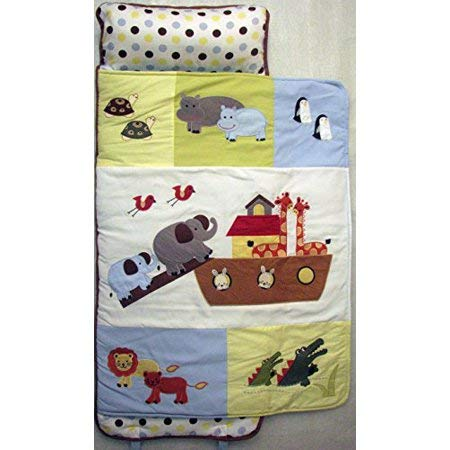affordable SoHo Toddler Nap Mat Rollable, Colorful Noah Ark