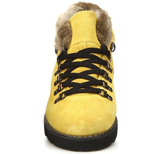 New Winter Snow Casual Athletic Warm Mujeres Botines Para Mujer Amarillo