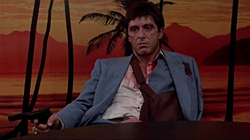 cloprints Scarface Tony Montana Poster Print Room Decoration Size 24x18