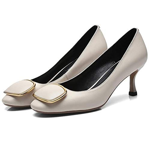 Blanc ZHZNVX Wohommes Nappa Leather Fall Basic Pump Heels Stiletto Heel noir rouge bleu 38.5 EU
