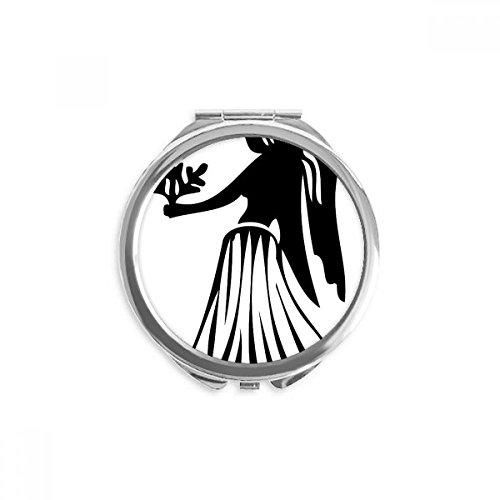 Constellation Virgo Zodiac Sign Mirror Round Portable Hand Pocket - Mirror Zodiac Pocket