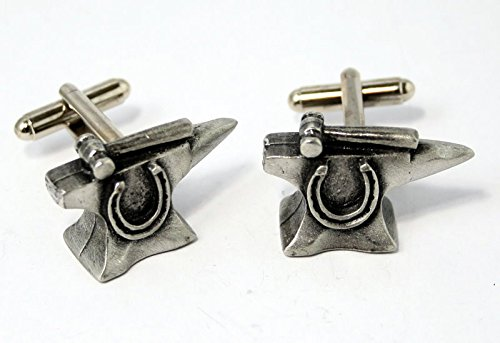 Blacksmith's Anvil Pewter Cuff Connectors (Gift Boxed) (Anvil Jewelry)