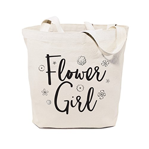 Flower Girl Bags - The Cotton & Canvas Co. Flower Girl Wedding, Beach, Shopping and Travel Resusable Shoulder Tote and Handbag