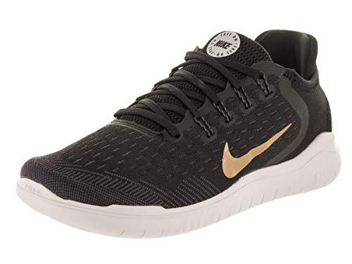 Nike Women's Free RN 2018 Running Shoe (8 M US, Black/Metallic Gold/Vast Grey) (Free Shoes B)