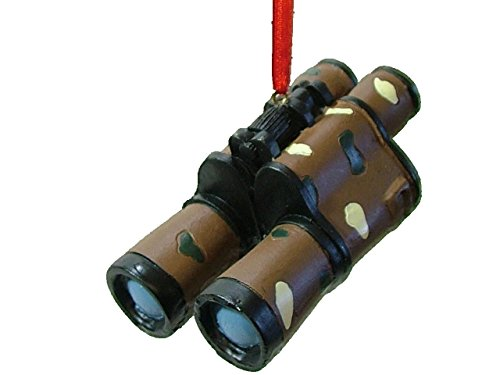 Camo Binoculars made our list of the most unique camping Christmas tree ornaments to decorate your RV trailer Christmas tree with whimsical camping themed Christmas ornaments!