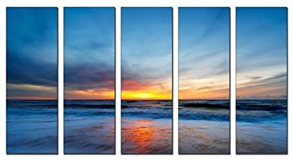 amazon com vibrant canvas prints sunset beach print on canvas
