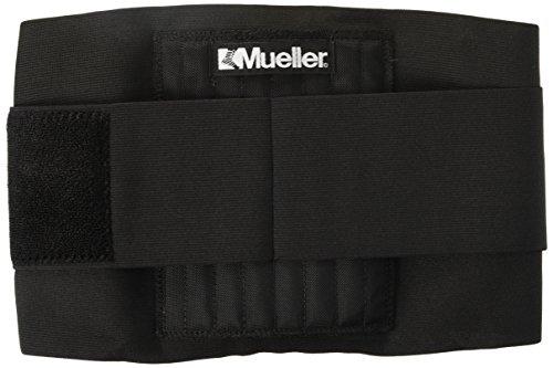 "Mueller Adjustable Back / Lumbar Brace, 9"" high, OSFM - fits waist size 28-50"" Stretched - Black"