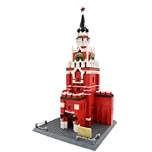 WANGE BUILDING BLOCKS – World's Greatest Buildings Model 8017 – The Spasskaya Tower of Moscow 1048 Pieces
