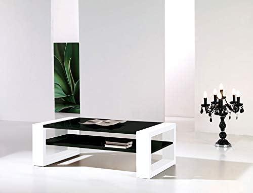 Kasalinea Cynthia - Mesa de Centro lacada, Color Blanco y Negro ...