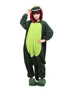 Keral Kigurumi Pijamas Adulto Anime Cosplay de Halloween Traje Outfit_Dinosaur_L