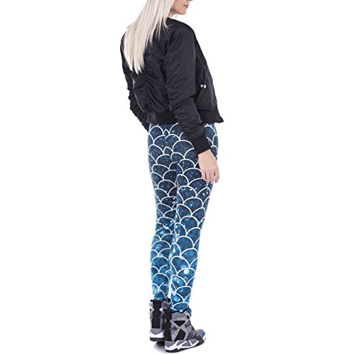 Shiny Starry Scale Leggings Mermaid Fish Scale Printed Leggings Pants for Women