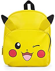 Pokemon Yellow Mini Pikachu 12 Pebble Leather Backpack