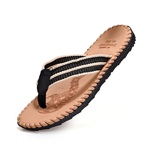 VAMJAM Mens Flip-Flops Light Weight Thong Sandals Non-Slip Beach Slippers