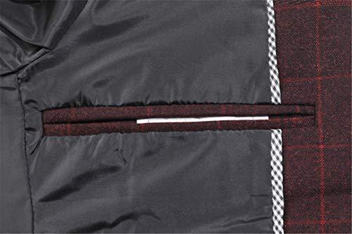 Blazer Di Slim Fit Smart Da Cotone Giacca Classica Uomo Burgundy In Bercici Casual znYXqF8W
