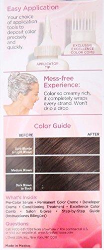 L'Oréal Paris Excellence Créme Permanent Hair Color, 3 Natural Black