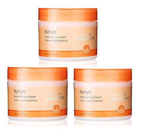 LOT of 3 Avon Solutions Nurtura Replenishing Cream 1.7 oz each brand new FRESH sold by The Glam Shop