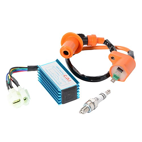 XCSOURCE Ignition Coil + Spark Plug + CDI Box for GY6 50cc-150cc (Plug Carburetor)