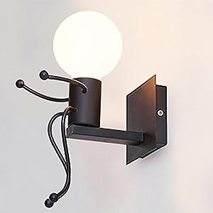 K/üche Schlafzimmer Flur Restaurant Caf/é KAWELL/® Kreative Vintage Wandleuchte LED Industrie Retro Wandlampe Schwarz Eisen E27 Halter Innen Art Deco f/ür Bar Wei/ß
