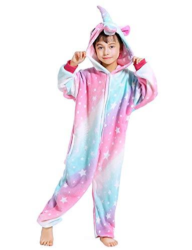 Girls and Boys Unicorn Pajamas Soft Fleece Onesie Halloween Costume for Kids