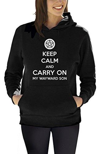 Carry Son Felpa On donna cappuccio Black Calm and Wayward My Keep con pEB1q