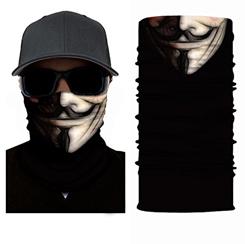 xxiii - Face Mask Shield Protective Balaclava Bandana MicroFiber Tube Neck Warmer Multi Use All Purpose Snowboard Ski Air Soft Photography Props ()