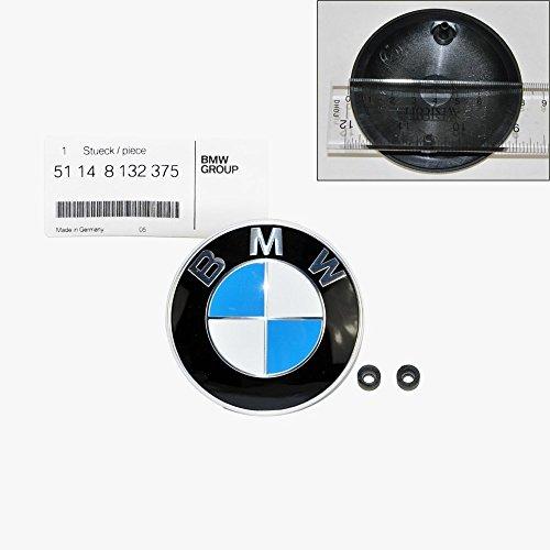 - BMW Hood Emblem Logo Badge Roundel 82mm Genuine OE 51148132375 + Grommets 51141807495