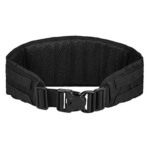 Lixada Tactical Belt Padded Patrol Belt Wargame Training Belt Molle Waist Belt for Outdoor Hunting Fishing Padded Waist Belt ()