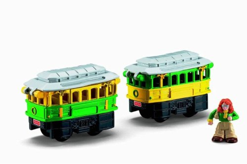 Fisher-Price GEO Trax Rail & Road System Push Vehicle: Chatty, Chirpy & Sally - The