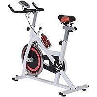 Homcom Ultrasport vélo d'appartement Exercice vélo en Acier avec écran LED Cardio Sport Charge Max 100kg Blanc