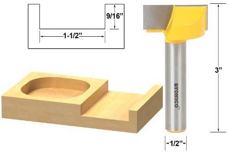 1//2-Inch Shank CMT 529.095.31 Plug Cutter 49//64-Inch Diameter 3//8-Inch Minor Diameter Renewed