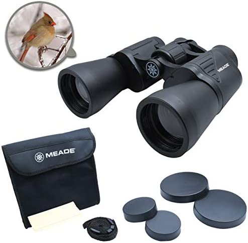 Meade Instruments – TravelView 10×50 Binoculars Multi-use Coated Optics – Compact Durable Exterior – Perfect for Outdoor Bird Watching Wildlife Nature – Includes Carry Case Strap