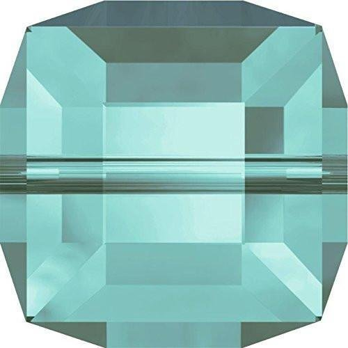 5601 Swarovski Crystal Beads Cube 6mm | Light Turquoise | 6mm - Pack of 4 | Small & Wholesale Packs