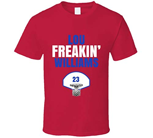Lou Freakin Williams Los Angeles Basketball Fan T Shirt L Red