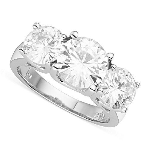 (Forever Brilliant Round 8.0mm Moissanite Engagement Ring - size 6, 3.90cttw DEW by Charles & Colvard)