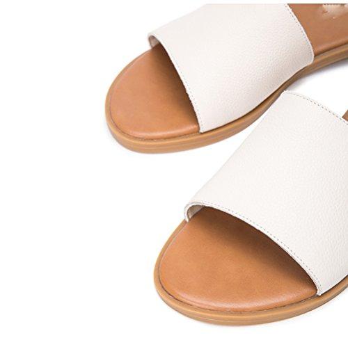 Altos de Mujer Ocasionales Tacones 35 de de de Planas Verano DHG Sólido bajo Dulces Moda Zapatillas de Pulir Tacón Color Sandalias de Sandalias Sandalias Punta wpnZPYqB