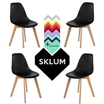 SKLUM Pack 4 Sillas IMS Nordic Negro - (Elige Color)