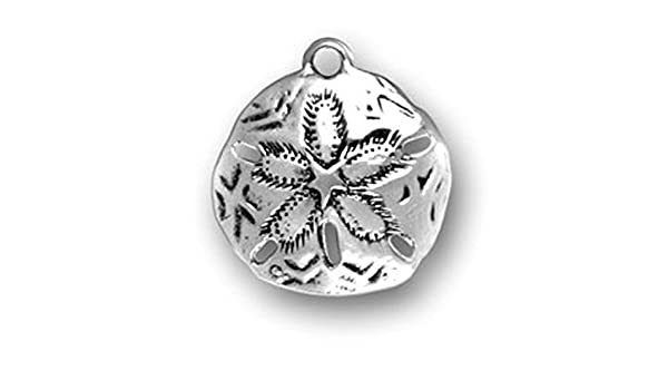 Sterling Silver 7 4.5mm Charm Bracelet With Attached 3D Sand Dollar Seashell Charm