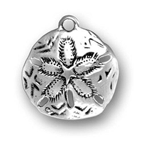 Sterling Silver 3D Sand Dollar Seashell Charm