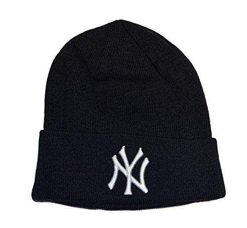 New York Yankees Blue Beanie Hat - MLB Cuffed Winter Knit Cap