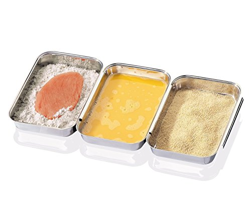 CHEFS Stainless-Steel Breading Trays, Set