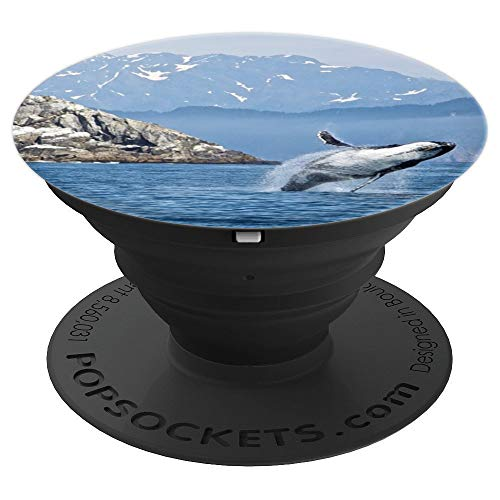 (Humpback Whale Breaching Ocean Mammal Animal Sea - PopSockets Grip and Stand for Phones and Tablets)