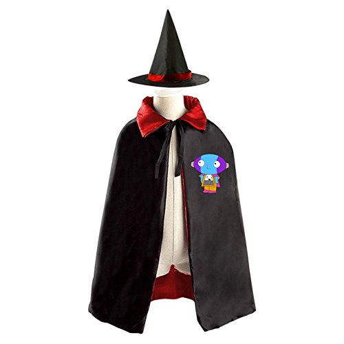 DIY Family Guy dog Costumes Party Dress Up Cape Reversible with Wizard Witch Hat (Best Halloween Costumes For Fat Guys)