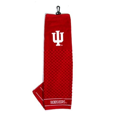 - Team Golf NCAA Indiana Hoosiers Embroidered Golf Towel, Checkered Scrubber Design, Embroidered Logo