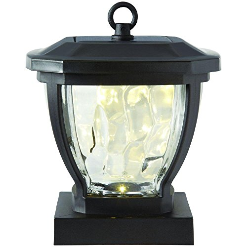 - Hampton Bay Solar Bronze Outdoor LED Square Round Deck Post Light